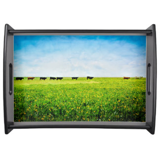"""Serving Tray """"Until The Cows Come Home"""""""