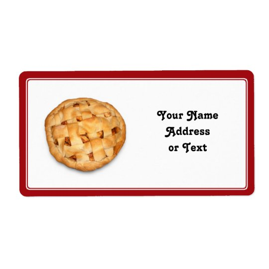 Serving up an Apple Pie Shipping Label