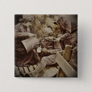 Serving Wounded Soldier Coffee 15 Cm Square Badge