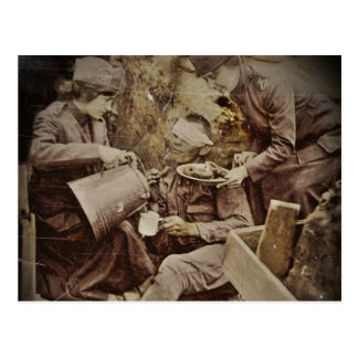 Serving Wounded Soldier Coffee Postcard