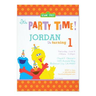 Sesame Pals Birthday 13 Cm X 18 Cm Invitation Card