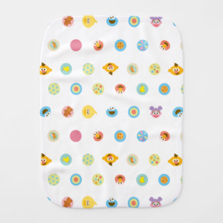 Sesame Pals Character Pattern Burp Cloth