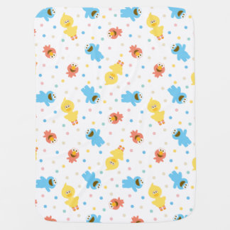 Sesame Pals White Polka Dot Pattern Baby Blanket