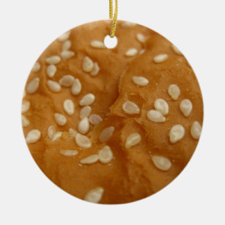 sesame seed hamburger bun christmas ornament