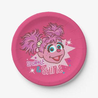 Sesame Street | Abby Cadabby - Sparkle & Shine 7 Inch Paper Plate