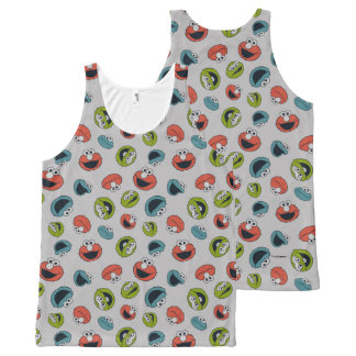 Sesame Street | All Star Team Pattern All-Over Print Tank Top
