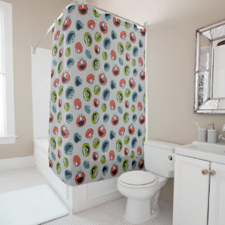 Sesame Street | All Star Team Pattern Shower Curtain