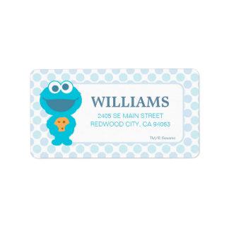 Sesame Street | Baby Cookie Monster Address Label