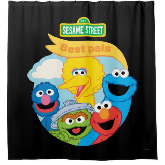 Sesame Street Character Art Shower Curtain