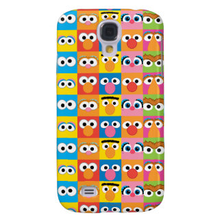 Sesame Street Character Eyes Pattern Galaxy S4 Case