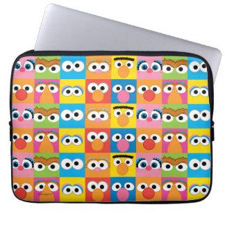 Sesame Street Character Eyes Pattern Laptop Computer Sleeve