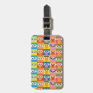 Sesame Street Character Eyes Pattern Luggage Tag
