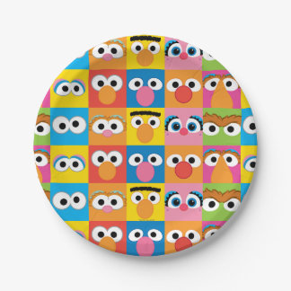 Sesame Street Character Eyes Pattern Paper Plate