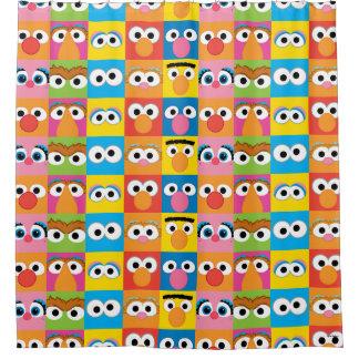 Sesame Street Character Eyes Pattern Shower Curtain