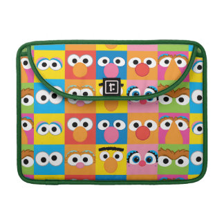 Sesame Street Character Eyes Pattern Sleeve For MacBooks