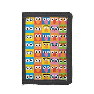 Sesame Street Character Eyes Pattern Trifold Wallet