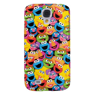 Sesame Street Character Faces Pattern Galaxy S4 Case