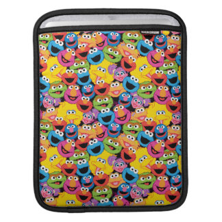 Sesame Street Character Faces Pattern iPad Sleeve
