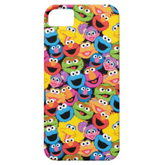 Sesame Street Character Faces Pattern iPhone 5 Cases