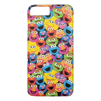Sesame Street Character Faces Pattern iPhone 8 Plus/7 Plus Case