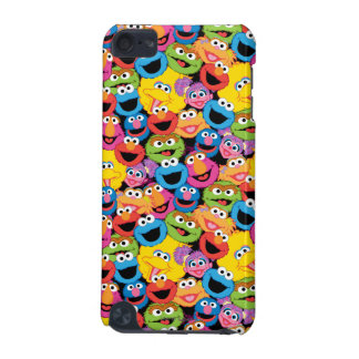 Sesame Street Character Faces Pattern iPod Touch (5th Generation) Cases