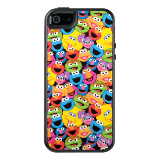 Sesame Street Character Faces Pattern OtterBox iPhone 5/5s/SE Case
