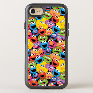 Sesame Street Character Faces Pattern OtterBox Symmetry iPhone 8/7 Case