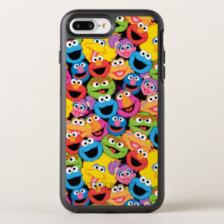 Sesame Street Character Faces Pattern OtterBox Symmetry iPhone 8 Plus/7 Plus Case