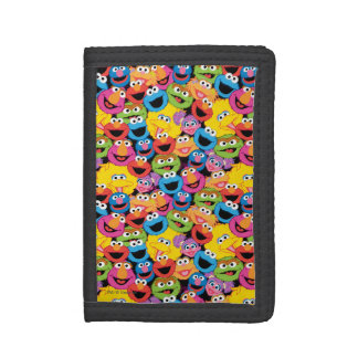 Sesame Street Character Faces Pattern Tri-fold Wallets
