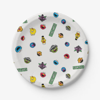 Sesame Street Character Pattern 7 Inch Paper Plate