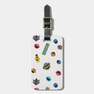 Sesame Street Character Pattern Luggage Tag