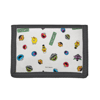 Sesame Street Character Pattern Trifold Wallets