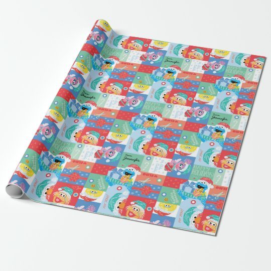 Sesame Street Christmas Pattern   Add Your Name