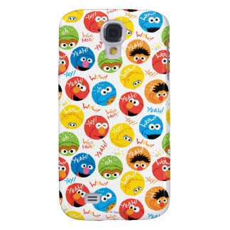 Sesame Street Circle Character Pattern Galaxy S4 Case