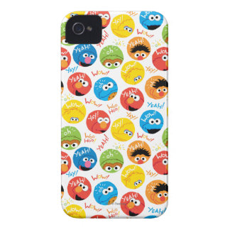 Sesame Street Circle Character Pattern iPhone 4 Cases