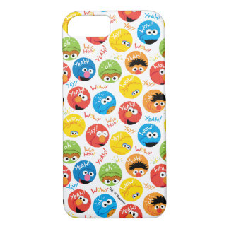 Sesame Street Circle Character Pattern iPhone 8/7 Case