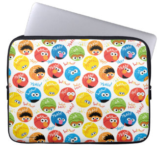 Sesame Street Circle Character Pattern Laptop Sleeve