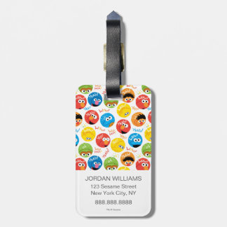 Sesame Street Circle Character Pattern Luggage Tag