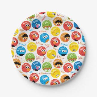 Sesame Street Circle Character Pattern Paper Plate