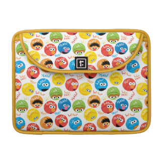 Sesame Street Circle Character Pattern Sleeve For MacBooks