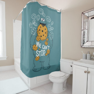 Sesame Street | Cookie Monster - Me Can't Stop Shower Curtain