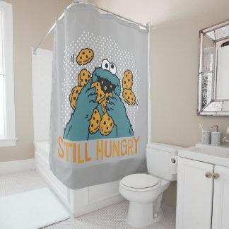 Sesame Street | Cookie Monster - Still Hungry Shower Curtain