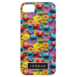 Sesame Street Crew Pattern | Add Your Name iPhone 5 Case