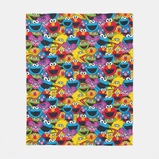Sesame Street Crew Pattern Fleece Blanket