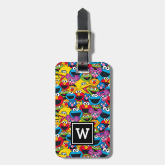 Sesame Street Crew Pattern Luggage Tag