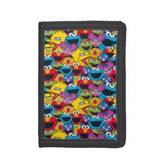 Sesame Street Crew Pattern Tri-fold Wallet
