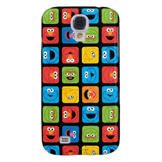 Sesame Street Cubed Faces Pattern Galaxy S4 Case