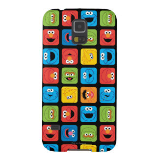Sesame Street Cubed Faces Pattern Galaxy S5 Cases