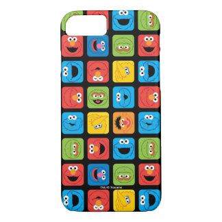 Sesame Street Cubed Faces Pattern iPhone 8/7 Case