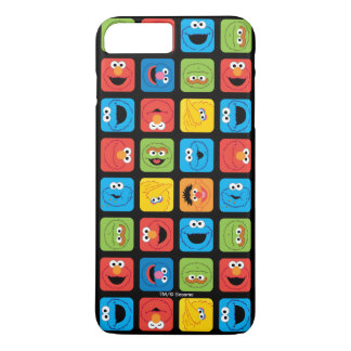 Sesame Street Cubed Faces Pattern iPhone 8 Plus/7 Plus Case